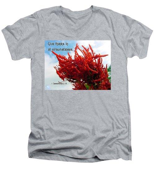 Give Thanks Men's V-Neck T-Shirt