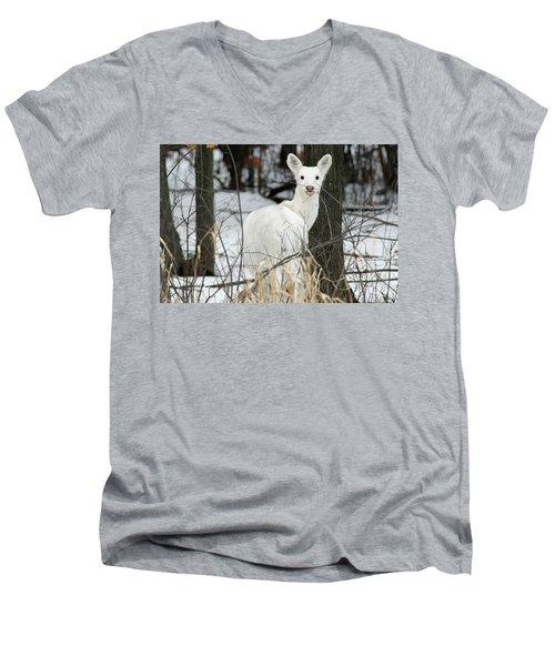 Giving Raspberries Men's V-Neck T-Shirt by Brook Burling