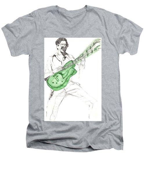 Gj Guitar  Men's V-Neck T-Shirt