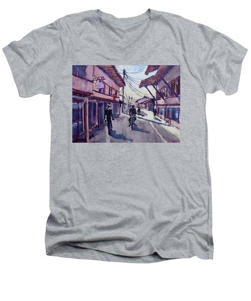 Gjakova Men's V-Neck T-Shirt by Geni Gorani