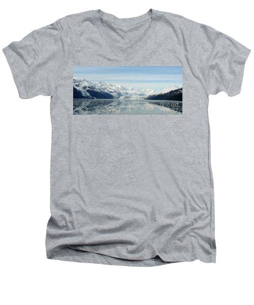 Glacier Bay Reflections Men's V-Neck T-Shirt by Susan Lafleur
