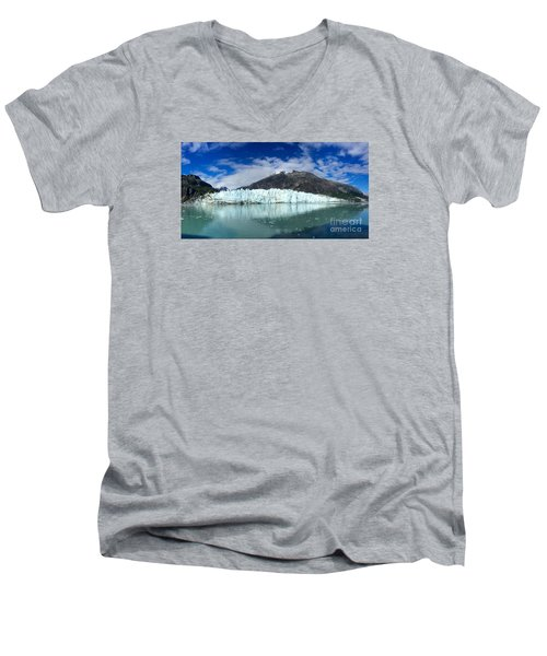 Men's V-Neck T-Shirt featuring the photograph Glacier Bay by Sean Griffin