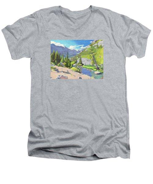 Glacier Gorge Men's V-Neck T-Shirt
