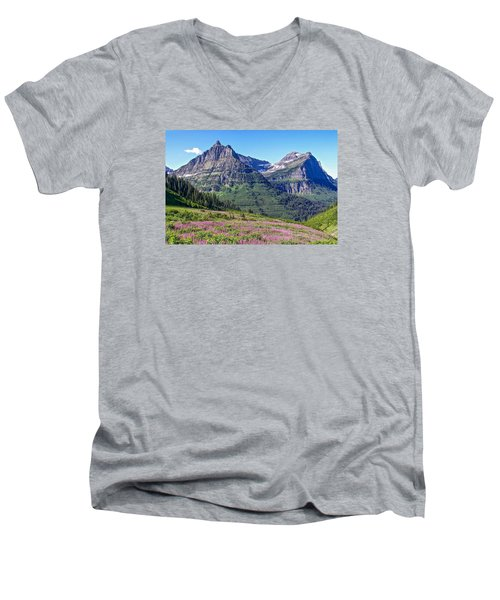 Glacier Park Bedazzeled Men's V-Neck T-Shirt