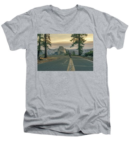 Glacier Point Adventure Men's V-Neck T-Shirt