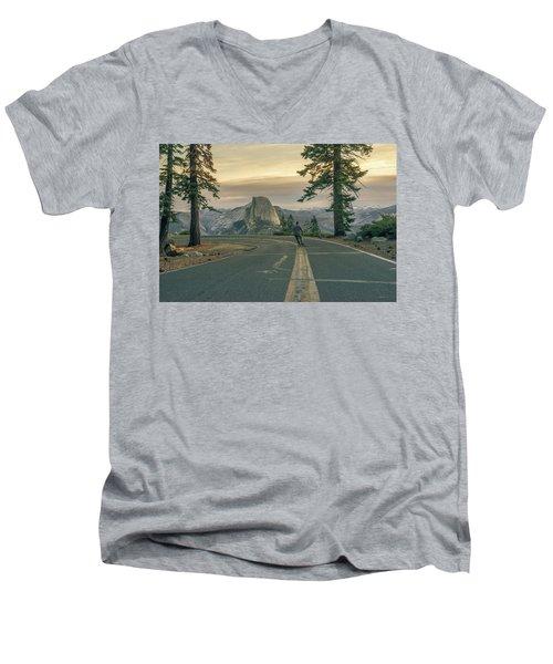 Glacier Point Adventure Men's V-Neck T-Shirt
