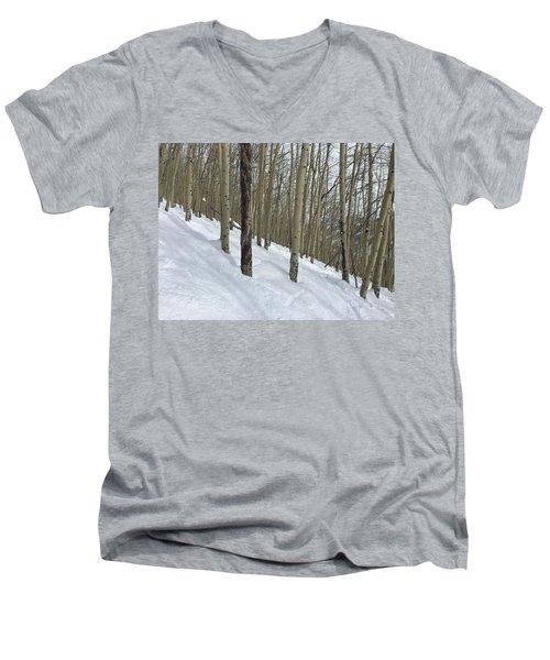 Gladed Run Men's V-Neck T-Shirt by Christin Brodie