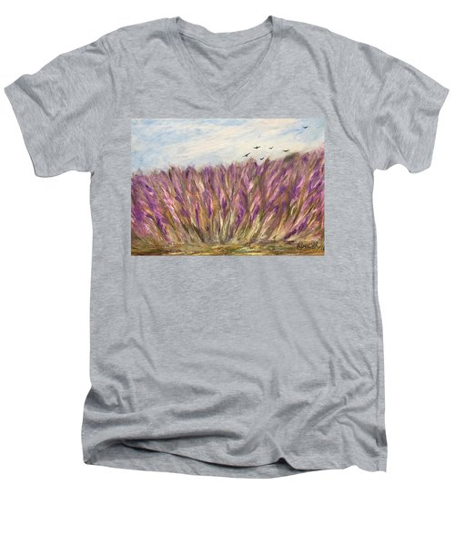 Gladiolus Field Men's V-Neck T-Shirt