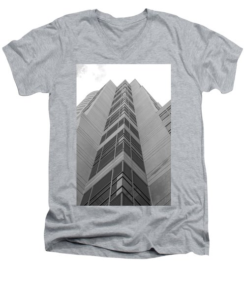 Men's V-Neck T-Shirt featuring the photograph Glass Tower by Rob Hans