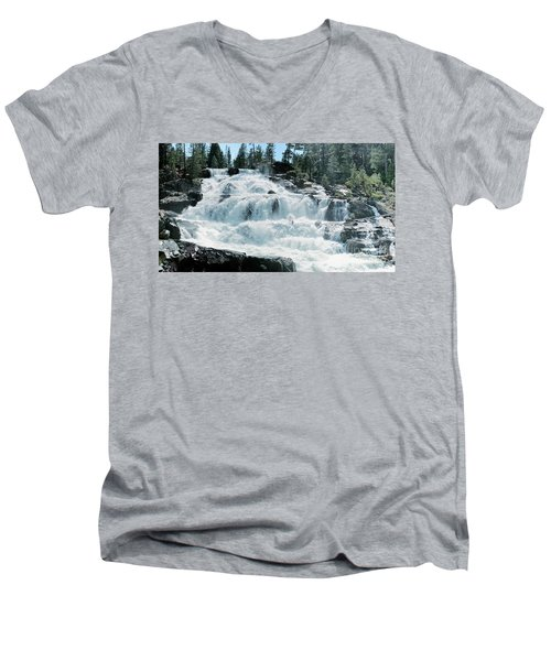 Glen Alpine Falls Mist Men's V-Neck T-Shirt