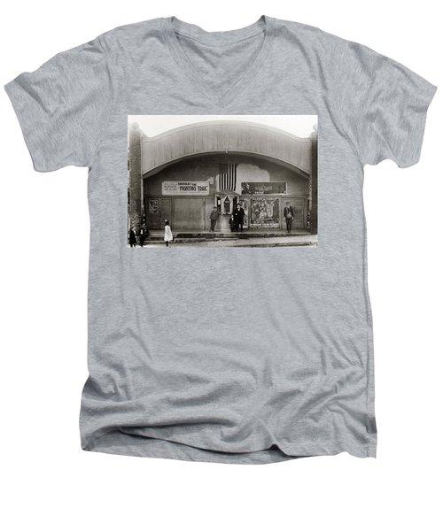 Glen Lyon Pa. Family Theatre Early 1900s Men's V-Neck T-Shirt