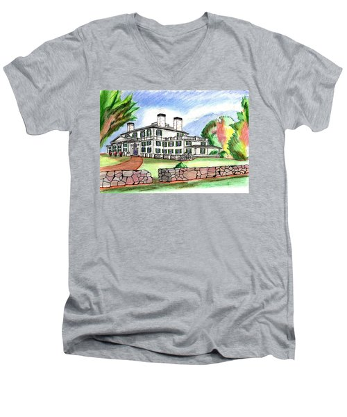 Glen Magna Farms Danvers Men's V-Neck T-Shirt by Paul Meinerth