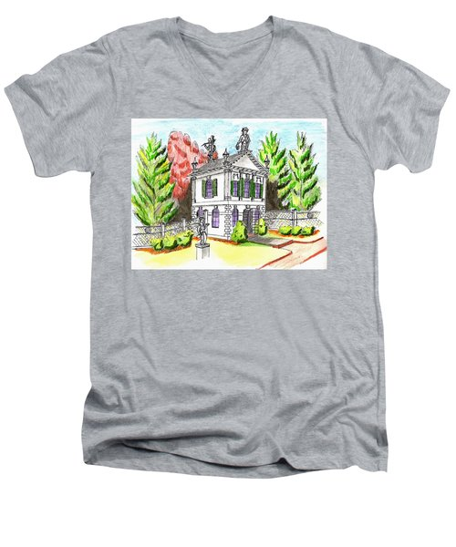 Glen Magna Farms- Derby House 2 Men's V-Neck T-Shirt by Paul Meinerth