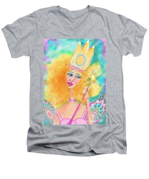 Glenda Men's V-Neck T-Shirt by Kari Nanstad
