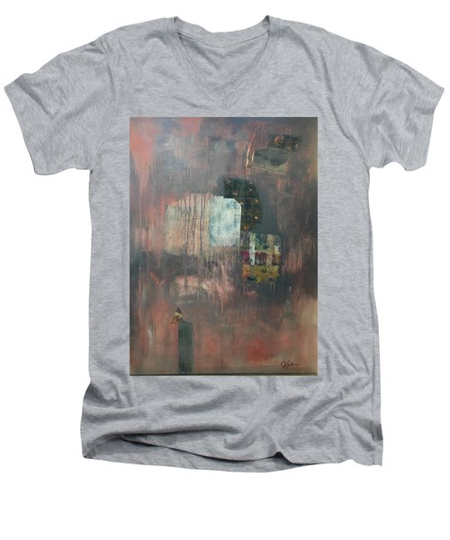 Glimpse Of Town Men's V-Neck T-Shirt
