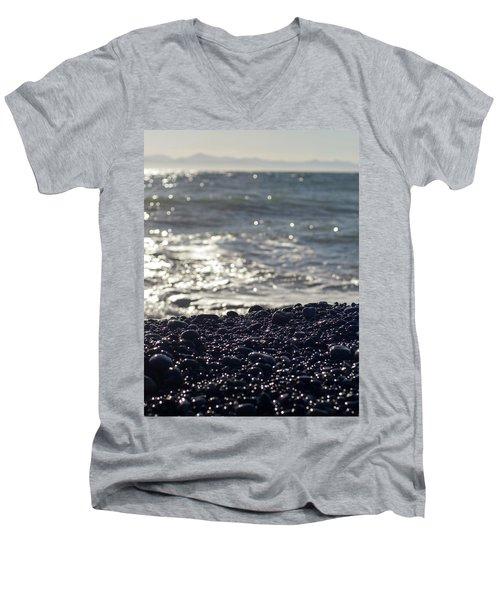 Glistening Rocks And The Ocean Men's V-Neck T-Shirt
