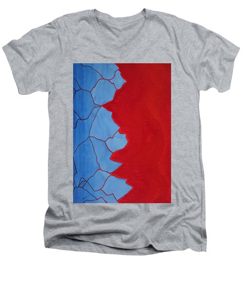 Glitch In The Matrix Original Painting Men's V-Neck T-Shirt