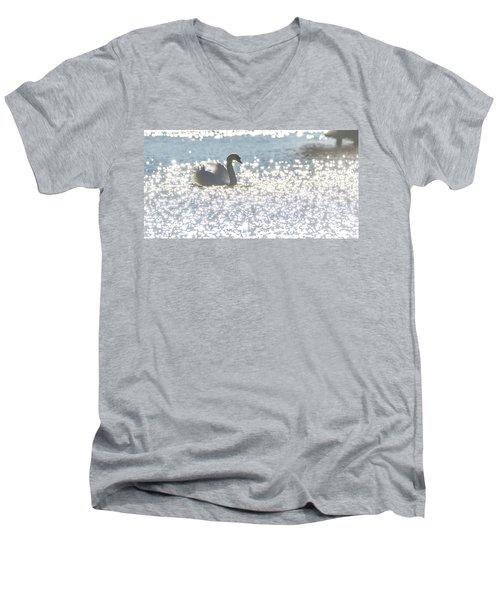 Glitz And Glamory Swan Men's V-Neck T-Shirt