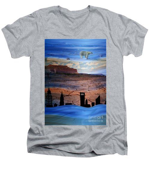 Global Care Be Aware Men's V-Neck T-Shirt