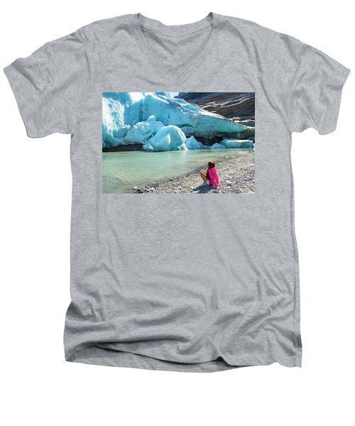 Global Warming Men's V-Neck T-Shirt by Tamara Sushko