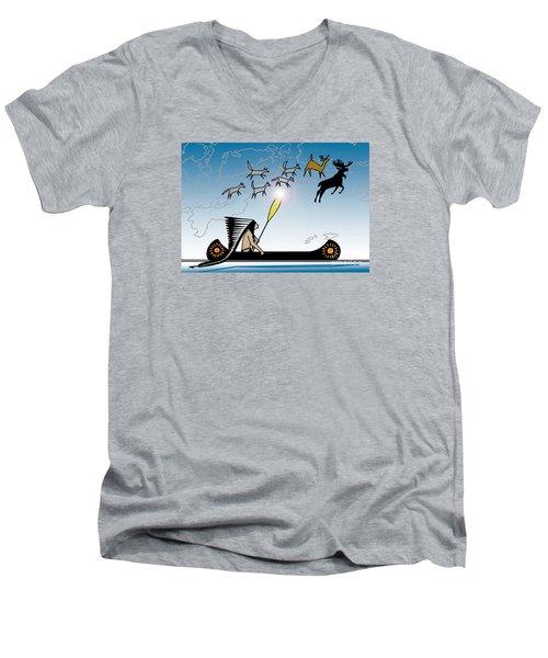 Glooscap Creates The West Isles Men's V-Neck T-Shirt