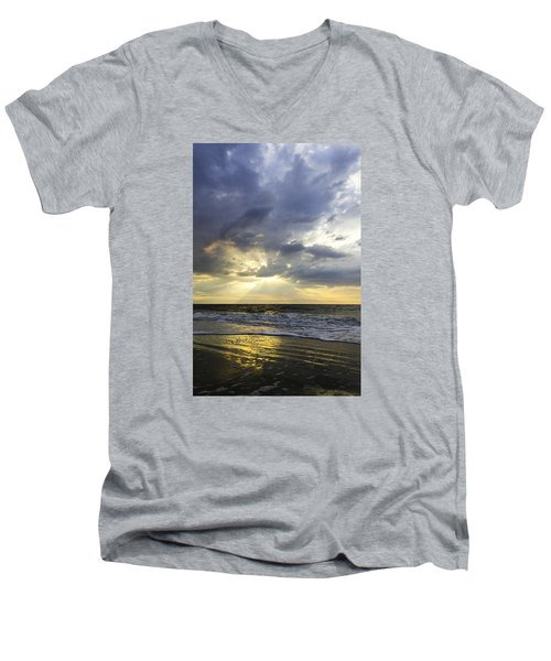 Glorious Beginning Men's V-Neck T-Shirt by Elizabeth Eldridge