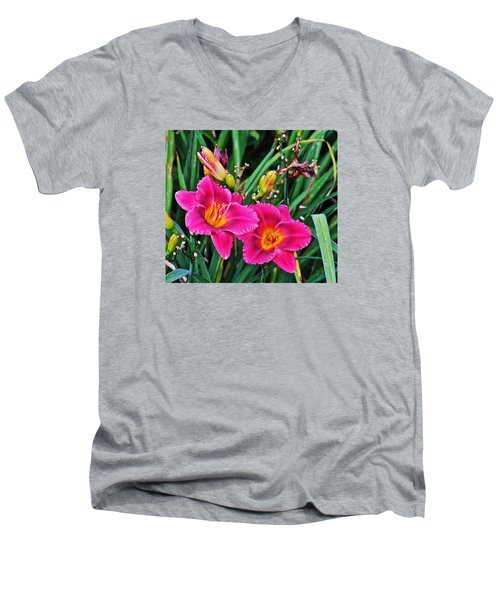 Glorious Daylilies Men's V-Neck T-Shirt