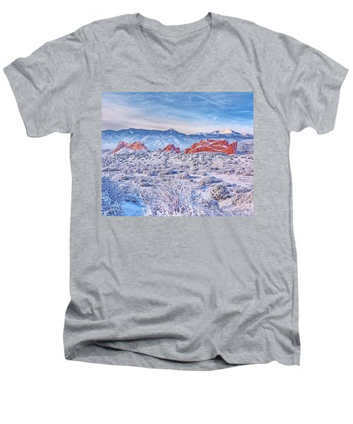 Glorious Garden Men's V-Neck T-Shirt by Diane Alexander