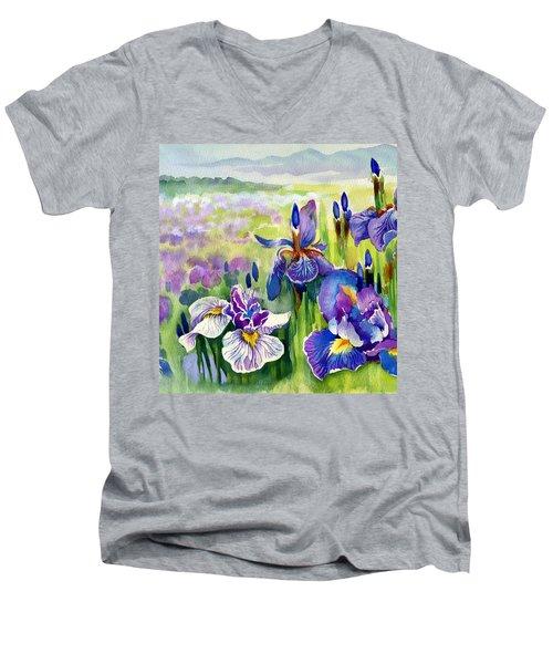 Glorious Hand Of God Men's V-Neck T-Shirt by Karen Showell