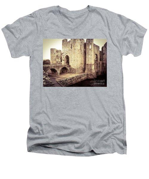 Glorious Raglan Castle Men's V-Neck T-Shirt