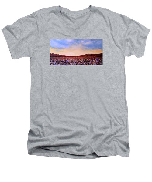 Glory Of Cotton Men's V-Neck T-Shirt by Jeanette Jarmon