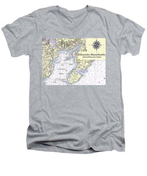 Gloucester Harbor Men's V-Neck T-Shirt