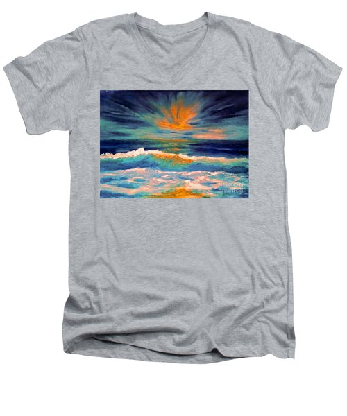 Glow Men's V-Neck T-Shirt by Holly Martinson