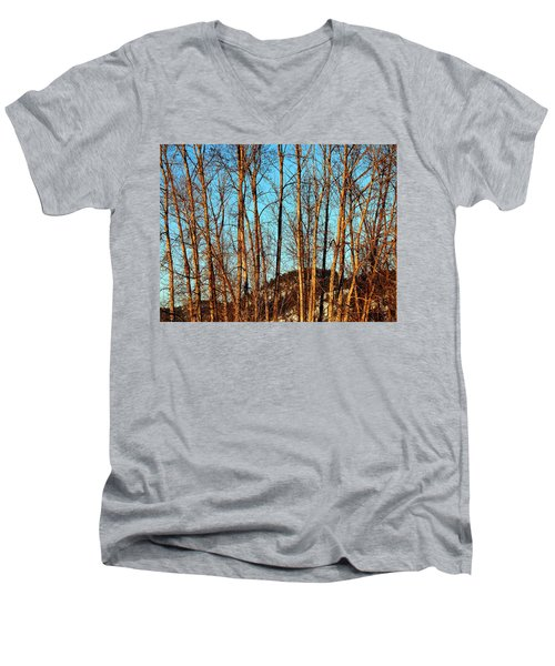 Men's V-Neck T-Shirt featuring the photograph Glow Of The Setting Sun by Will Borden