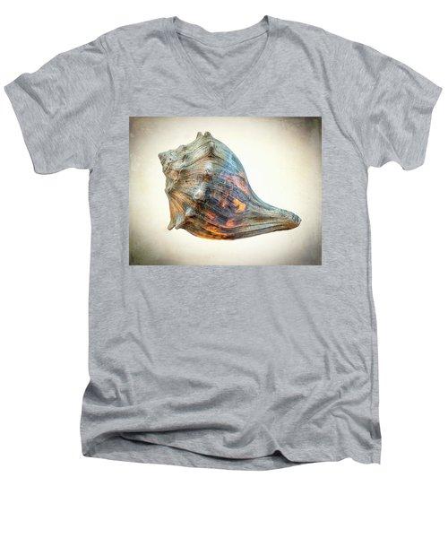 Glowing Conch Shell Men's V-Neck T-Shirt