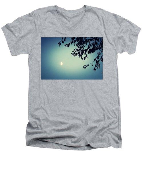 Glowing Moon  Men's V-Neck T-Shirt