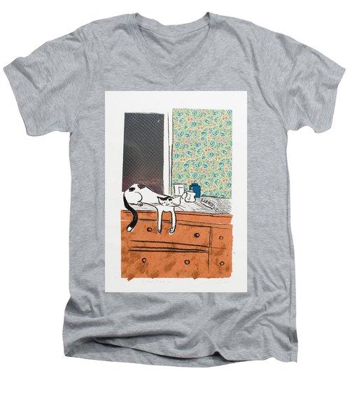 Go Ahead I Dare Ya. Men's V-Neck T-Shirt