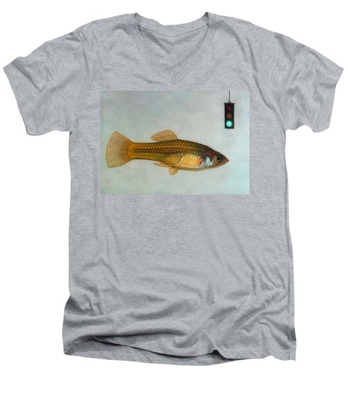 Go Fish Men's V-Neck T-Shirt