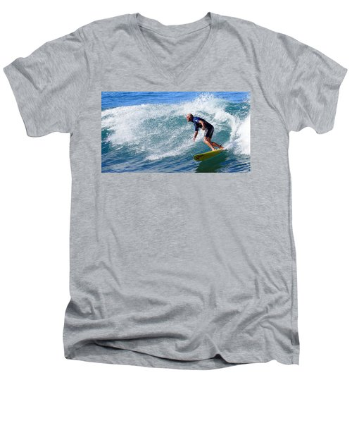 Men's V-Neck T-Shirt featuring the photograph Go For It 001 by Kevin Chippindall