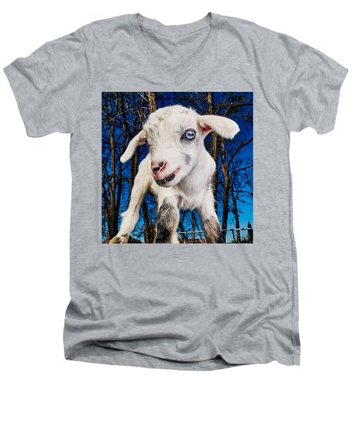 Goat High Fashion Runway Men's V-Neck T-Shirt