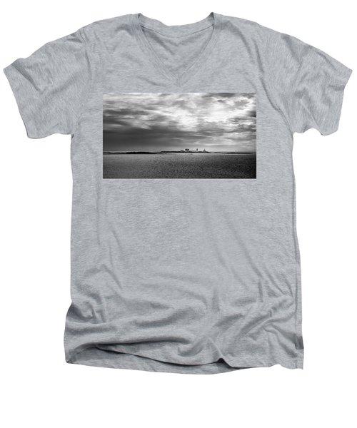 Goat Island Light, Cape Porpoise, Maine Men's V-Neck T-Shirt