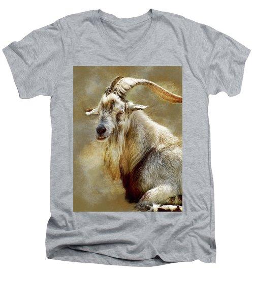 Goat Portrait Men's V-Neck T-Shirt