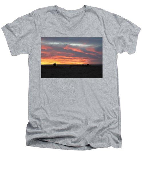 Gobi Sunset Men's V-Neck T-Shirt by Diane Height