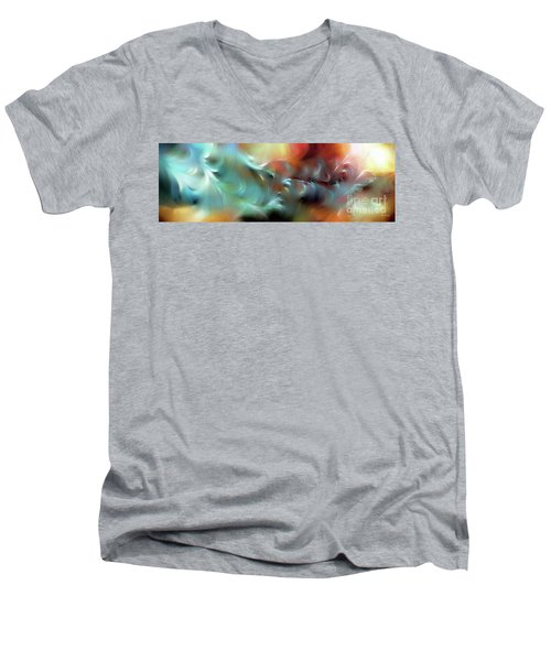 God Is Awesome And Glorious. Isaiah 57 15 Men's V-Neck T-Shirt by Mark Lawrence