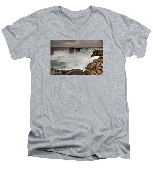 Godafoss Men's V-Neck T-Shirt by Brad Grove
