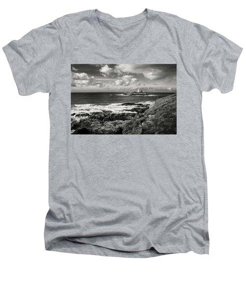 Godrevy Lighthouse 1 Men's V-Neck T-Shirt