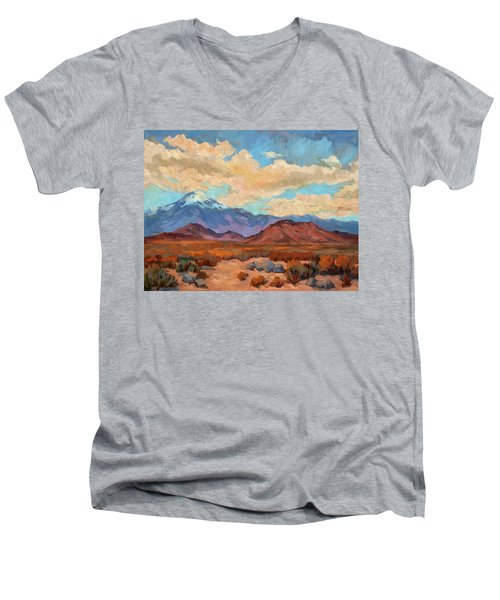 God's Creation Mt. San Gorgonio  Men's V-Neck T-Shirt by Diane McClary