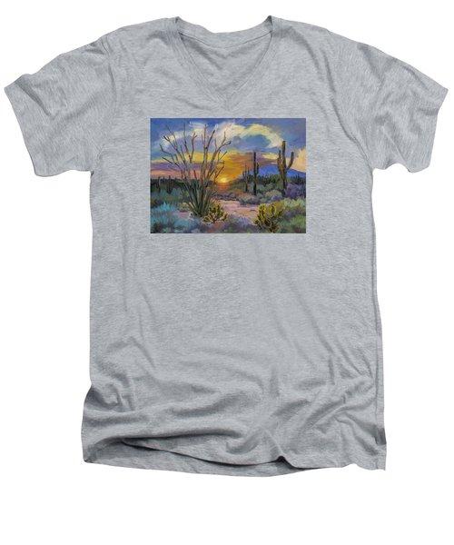 God's Day - Sonoran Desert Men's V-Neck T-Shirt by Diane McClary