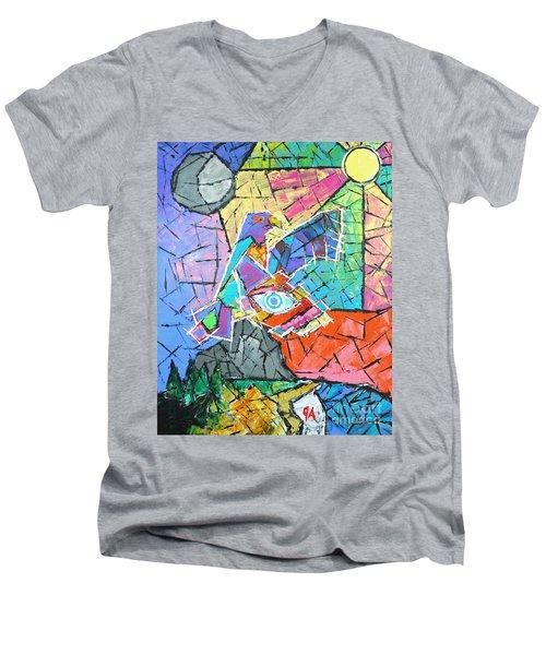 God's Eye, Like Eagle, Roams Earth, Night And Day Men's V-Neck T-Shirt