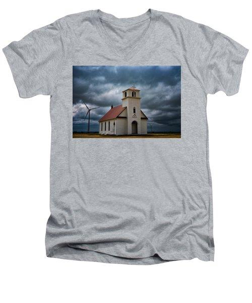God's Storm Men's V-Neck T-Shirt by Darren White